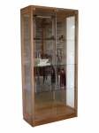 Display Cabinet DC 17 - Euro Beech - 850(w) x 1800(h) x 400(d)