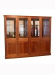 Display Cabinet DC 16 - Tasmanian Blackwood - 2000(w) x 1700(h) x 470(d) - This display cabinet features mirror backing and adjustable glass shelves - Custom options include: A wide range of timbers to choose from, down lights, timber or mirror back, adjustable glass or timber shelves.