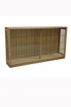 DC 48 is made in Tasmanian Oak with lockable sliding glass doors.