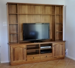 EU 134 - All our Entertainment Units can be customized in size to suit your individual room. They can be made with a variety of solid timbers including Tasmanian Blackwood, Blue Gum, Tasmanian Oak, Jarrah, Blackbutt and many more. Give us a call with your requirements for an obligation free quote.
