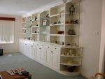 Custom Wall Unit in solid timbers painted Birch White - 4300w x 2300h x 410 & 280d