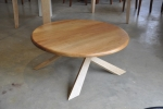 Orion Coffee Table - 900 dia - Tasmanian Blackwood & Tasmanian Oak