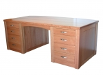 Custom Pedestal Desk No 1 - Rose Gum - 2000(w) x 900(d) x 750(h)
