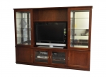 WU 21 Wall Unit - Rose Gum stained - 2360(w) x 1800(h) x 450(d)
