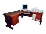 Corner Computer Desk CD 01 - Jarrah with banding in top - 1900 x 1900(w) x 700(d) x 740(h)