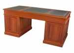 Custom Pedestal Desk No 3 - Tas Blackwood - 1830(w) x 915(d) x 810(h)- Gold embossed leather inserts. 3 x upper drawers(lockable) 4 x medium drawer and 1 x file drawer on on lower RHS.