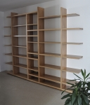 WU 26 - Open style Wall Unit in Blackbutt - 2730w x 2200h x 250d