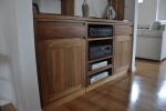 WU 29 - Fitted in wall unit in Tasmanian Blackwood with provision for entertainment equipment- Tas Blackwood - 1700w x 2550h x 450 & 260d