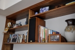 Fitted in wall units in Tasmanian Blackwood with provision for entertainment equipment.
