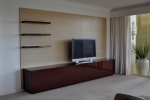 EU 133 - All our Entertainment Units can be customized in size to suit your individual room. They can be made with a variety of solid timbers including Tasmanian Blackwood, Blue Gum, Tasmanian Oak, Jarrah, Blackbutt and many more. Give us a call with your requirements for an obligation free quote.