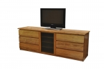 EU 135 - All our Entertainment Units can be customized in size to suit your individual room. They can be made with a variety of solid timbers including Tasmanian Blackwood, Blue Gum, Tasmanian Oak, Jarrah, Blackbutt and many more. Give us a call with your requirements for an obligation free quote.