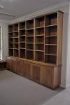 WU 14 - Custom Wall Unit with adjustable shelves and made from Coachwood - 3060w x 2400h x 430 & 280d