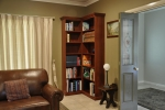 Library Units in WA Jarrah - Custom made to fit the room and fitted to the walls.